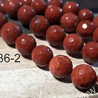 Jaspe facetado rojo de 8 mm, tira de 45 piedras aprox