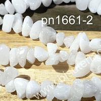 Cuarzo blanco, piedra chip, piedra pequeña, tira de 80 cm aprox