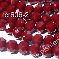 Cristal rojo oscuro 6 mm por 5 mm, tira de 92 unidades