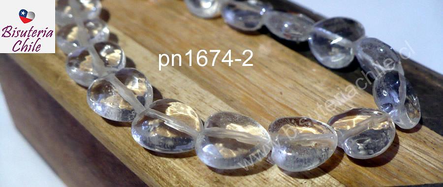 Corazón cuarzo cristal facetado, 10 x 10 mm, set de 10 unidades
