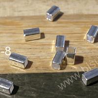 Separador baño de plata, 4x2 mm, 1 gr., (13 aprox)