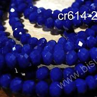 Cristal facetado tornasol color azul de 4 mm, tira de 145 cristales