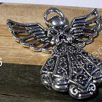 Colgante en forma de ángel,  42 x 38 mm, por unidad