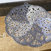 Colgante baño de plata, 41 mm de diámetro, por unidad