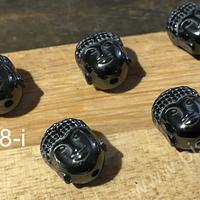 Hematite en forma de buda, 10 x 8 mm, set de 5 unidades