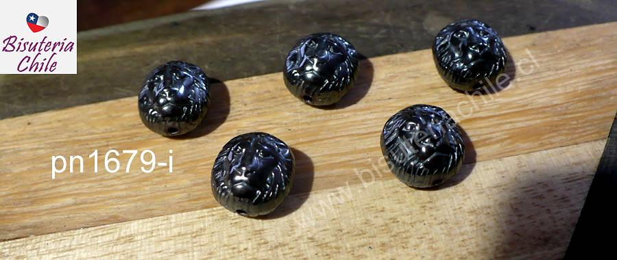 Hematite en forma de león, 10 x 10 mm, set de 5 unidades