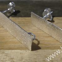 Base de aro baño de plata, 27x9 mm, por par