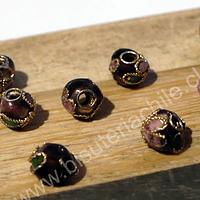 Perla española burdeo de 6 mm, set de 8 unidades