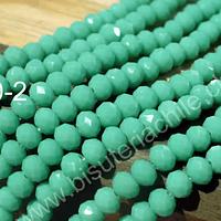 Cristal facetado color jade de 4 mm, tira de 145 cristales