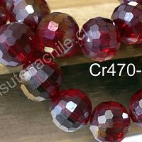Cristal de 10 mm, primera calidad, color rojo tornasol, tira de 20 unidades