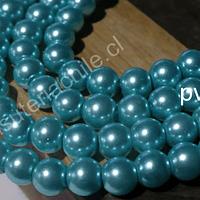 Perla Fantasía 8 mm, en color celeste, tira de 120 perlas aprox