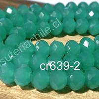 Cristal facetado 6 mm color jade con brillos, tira de 94 cristales