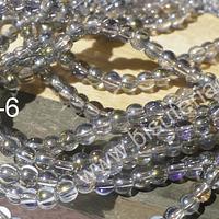 Perla de vidrio tono tornasol de 4 mm, tira de 125 perlas aprox