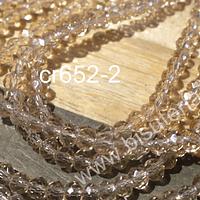 Cristal facetado color champaagne de 3 mm x 2 mm, tira de 148 cristales aprox.