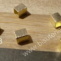 Separador baño de oro. 4 x 4 mm, set de 6 unidades