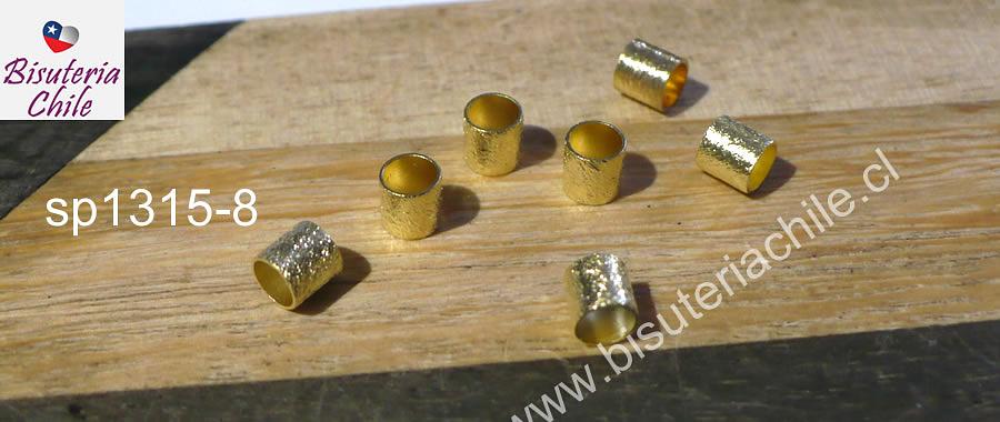 Separador baño de oro, 5x5 mm, agujero de 4 mm, set de 5 unidades