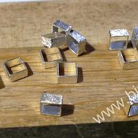 separador baño de plata de 4 x 2 mm, set de 14 unidades