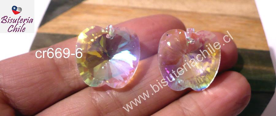 Cristal en forma de manzana, 20 x 20 mm, set de 2 unidades