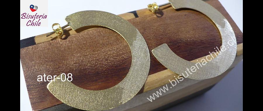 Aros de baño de oro,  18 k, 43 mm de diámetro