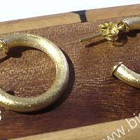 Aro baño de oro 18k, 25 mm de diámetro