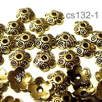 casquete dorado , 7 mm de diámetro, set de 40 unidades