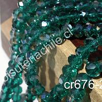 Cristal verde tornasol, de 6 mm, tira de 90 unidades aprox