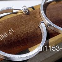 Aros baño de plata, 40 mm de diámetro, por par