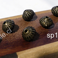 Separador envejecido, 8 mm de diámetro, agujero de 1,8 mm, set de  unidades
