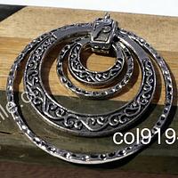 Colgante plateado, 45 mm de diámetro por unidad