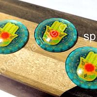 Vidrio con diseño, especial para base cambuchón, 25 mm, set de 3 unidades