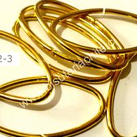 Argolla ovalada dorada 28 mm de largo y 15 mm de ancho 2 mm de espesor set de 9 unidades