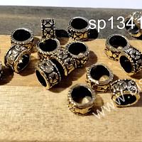 Separador dorado, 7 x 4 mm, agujero de 5 mm, set de 20  unidades