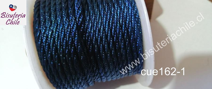 Hilos, Hilo trenzado 3 mm en color azul oscuro, rollo de 23 metros