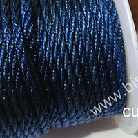 Hilo trenzado 3 mm en color azul oscuro, rollo de 23 metros