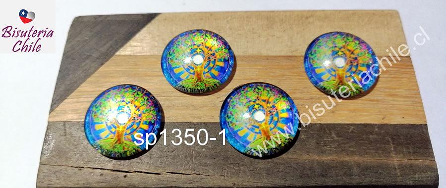Vidrio con diseño, especial para base cambuchón, 20 mm, set de 4 unidades