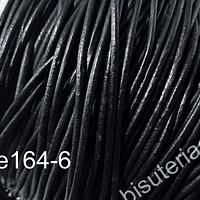 Cuero negro de 2 mm, por metro