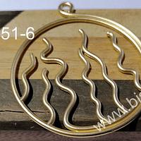 Colgante baño de oro, 55 mm de diámetro, por unidad