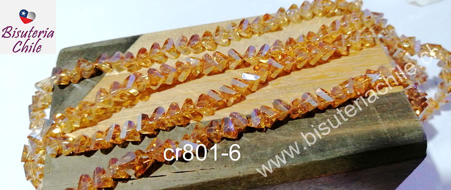cristal naranjo tornasol en forma de triángulo, de 6 mm, tira de 98 cristales aprox