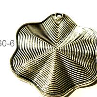 Colgante plateado, 45 mm de diámetro, venta por unidad