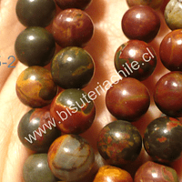 Jaspe picazo, 8 mm, tira de 48 piedras