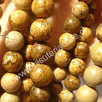 Jaspe leopardo 10 mm, tira de 38 piedras aprox