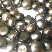 piedra de río irregular color gris, 9 mm de diámetro aprox. tira de 48 piedras aprox.