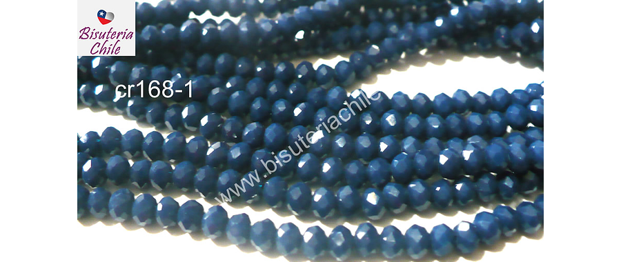 cristal chino azul 4 mm tira de 145 cristales aprox.