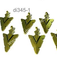 Dije dorado en forma de flecha, 24 mm de largo por 15 mm de ancho, set 8 unidades
