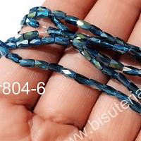 Cristal facetado azul, especial excelente calidad,  4 x 2 mm, set de 98 cristales aprox.