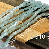 Cristal facetado color jade, especial excelente calidad, 4 x 2 mm, set de 98 cristales aprox.