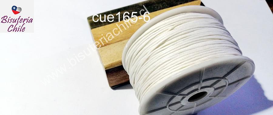 Hilo de algodón blanco, 1 mm, carrete de 40 yardas