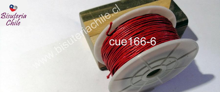 Hilos, Hilo de algodón rojo, 1 mm, carrete de 40 yardas