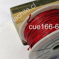 Hilo de algodón rojo, 1 mm, carrete de 70 mts