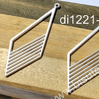 Base de aro baño de plata opaco, 50 x 18 mm, por par
